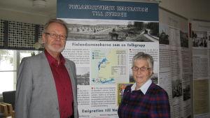 Vexala byaforskare Ralf Berttula och Gurli Dumell