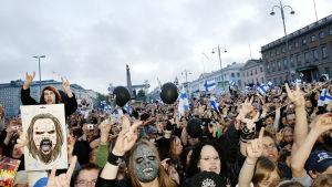 Euroviisuvoiton johdosta pidetty kansanjuhla Helsingin Kauppatorilla 2006