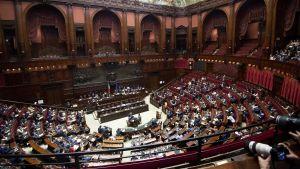 Interirör från det italienska parlamentet