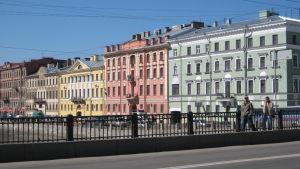 Taloja Pietarin Fontanka-joen varrella.