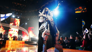 Lordi uppträder i Hartwall Arenan 2007.