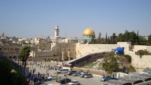 Vy över Jerusalems Gamla stad.