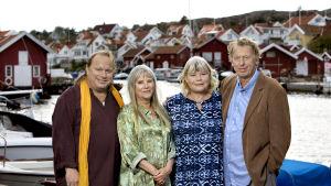 Karaktärerna Bengt, Johanna, Emily och Thomas i fjärde säsongen av Saltön.