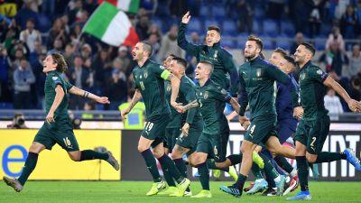 Italienska spelare jublar