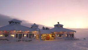 Hotell på Kaunispää i Saariselkä i Lappland