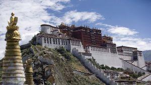 Dalai Lamas förra palats i Tibets huvudstad Lhasa