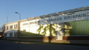Tryckeriteaterhuset i Karis centrum.