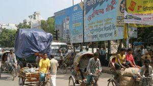 Gatubild från Dhaka