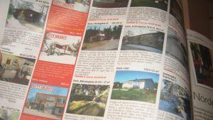 Bostadsannonser i tidning