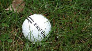 Golfboll i gräset