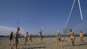 Volleybollspelare på Sandudd