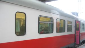 Lokaltåg på Karis järnvägsstation
