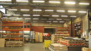 Fabrikshall vid SBA Interior i Svartå