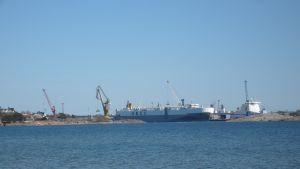 Västra hamnen i Hangö fotograferad från Tulludden