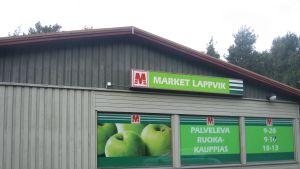 Nedlagd butik i Lappvik, Hangö.