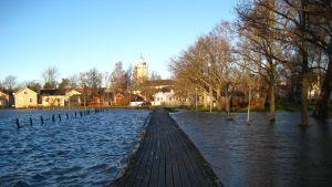 Högt vattenstånd efter stormen Dagmar