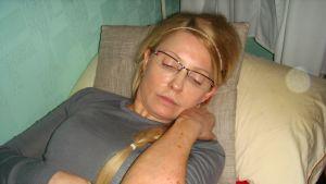 Julia Tymosjenko i fängelset i Charkov.
