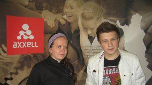 Sarah Ekström och Kim Heimberg studerar vid Axxell