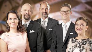 Från vänster: Pia-Maria Lehtola, Marko Hietikko, Jonas Jungar, Magnus Swanljung, Katja Johansson