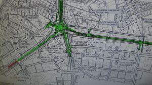 Ny tvåfilig rondell planeras i Jakobstads tyngst trafikerade korsning
