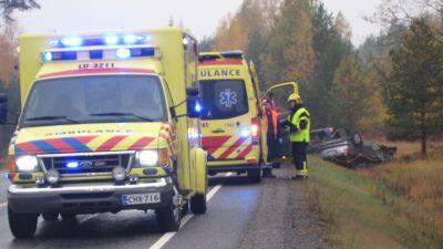 Två personbilar krockade i Svartå