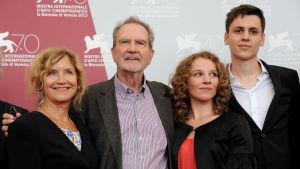 Edgar Reitz och Heimat-ensemble på Venedigs filmfestival 2013.