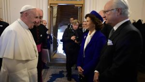Påven och det svenska kungaparet