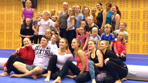 Raision Jumpparits Freegym-grupp i november 2015.