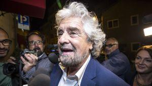 Beppe Grillo, ledare för populistiska Femstjärnerörelsen i Italien