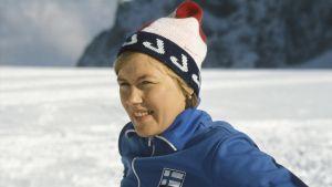 Hiihtäjä Helena Takalo 1977