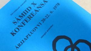 kuva saamelaiskonferenssiraportin kannesta