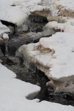 Jäinen joki keväällä