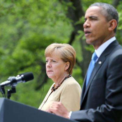 USA:s president Barack Obama och Tysklands förbundskansler Angela Merkel träffades i Washington den 2 maj.