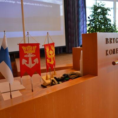 Talarstolen i Pargas stadsfullmäktige.