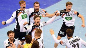Tyskland firar EM-guld 2016.
