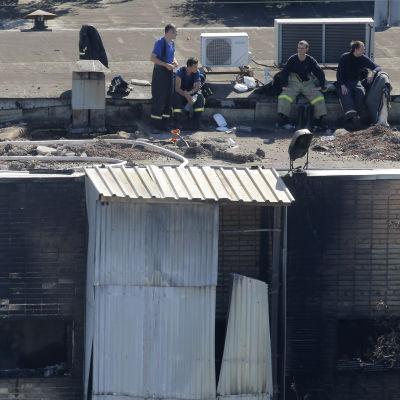 17 gästarbetare från Kirgizistan har omkommit i en brand i Moskva.