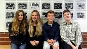 Karolina Tujulin, Gabriela Möller, Oscar Höckerstedt och Ilja Freudentahl.