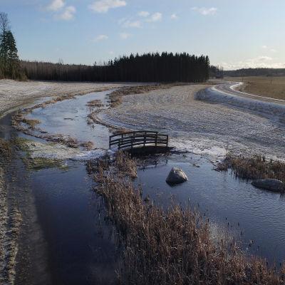 Aarno Lindfors viljelee maata Ohkolan kylässä Mäntsälässä.