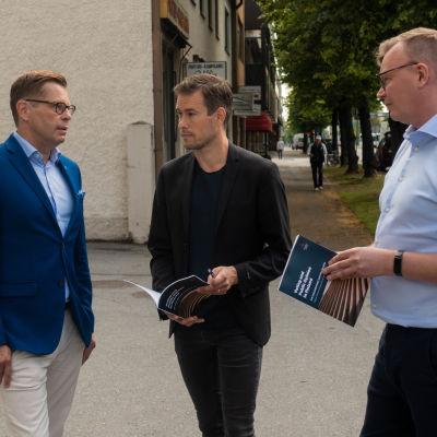 Kimmo Grönlund, Kim Strandberg och Peter Söderlund.