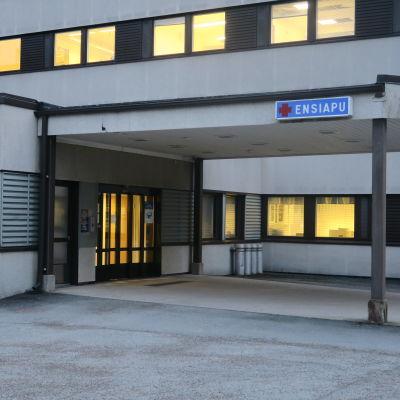 Forssan sairaalan sisäänkäynti
