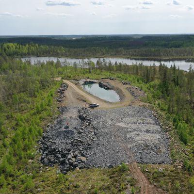 Kelibers gruvområde i Kaustby.