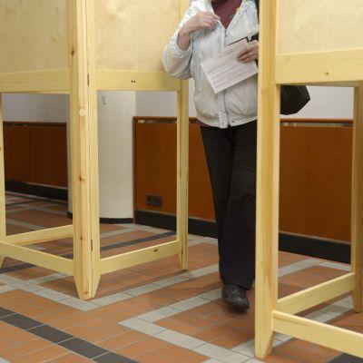 Förhandsröstning inför Europaparlamentsvalet 2014.