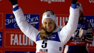 Stina Nilsson öppnade Sveriges medaljkonto vid hemma-VM.