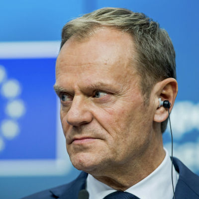 Europeiska rådets ordförande, polacken Donald Tusk på EU-toppmöte i Bryssel i mars 2017.