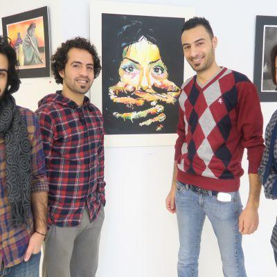 Turvapaikanhakijoita ja heidän teoksiaan