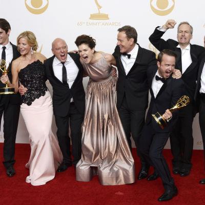 Breaking Bad-ensemblen på Emmy Awards år 2013.