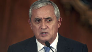 Guatemalas president Otto Pérez Molina.
