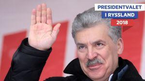 Rysslands kommunistpartis presidentkandidat Pavel Grudinin
