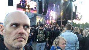Lasse Grönroos på Ozzy Osbournes konsert 6.6.2018.