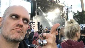 Lasse Grönroos på Tuska 2018.